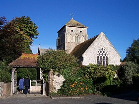 L'église Saint-Nicolas à Old Shoreham