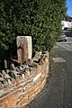 Old level crossing gatepost at Devoran - geograph.org.uk - 1225969.jpg