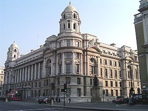 Edwardian Baroque architecture - The War Office in Whitehall, London (built 1906).