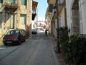 Zacharo - An old street of Zacharo.
