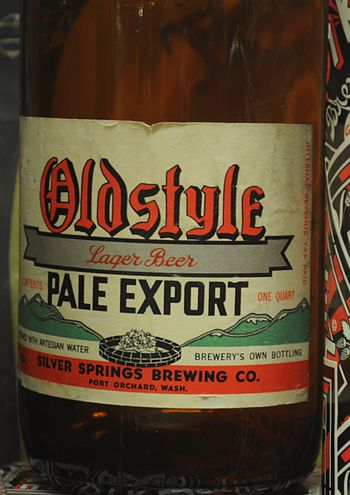 English: Label, Oldstle Lager Beer (Pale Expor...