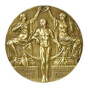Sailing at the 1908 Summer Olympics - Image: Olimpiad medal 1908