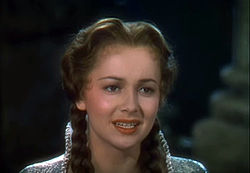 Olivia de Havilland in The Adventures of Robin Hood trailer.JPG