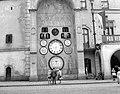 Olomouc 1958, Orloj. Fortepan 7764.jpg