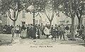 Olonzac place du marché 1911 - Archives départementales de l'Hérault - FRAD034-2FICP-01609-00001.jpg