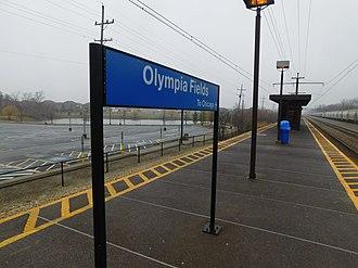 Olympia Fields station - Image: Olympia Fields Station