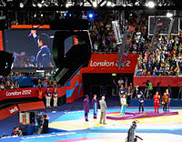 Olympic Wrestling - Women's 48kg Victory Ceremony.jpg