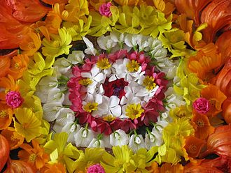 Flower bouquet - Image: Onam Flower Arrangement