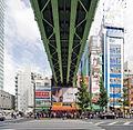 Onari-kaidō Overpass & Chūō-dōri west side - Akihabara Denpa Kaikan, Akihabara Radio Center, Akihabara Radio Store, etc. - 1-14 Sotokanda, 2008-10-21 (by Ken OHYAMA).jpg