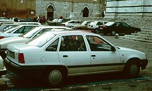 Vauxhall Belmont - The Opel Kadett Saloon (1984–1991) shared its body with the UK market Belmont