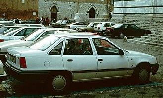 Vauxhall Belmont - The Opel Kadett Saloon (1984–1991) shared its body with the UK market Belmont