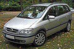 Opel Zafira A po faceliftingu