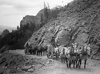 Saguache, Colorado - Ore wagons, San Juan Mountains