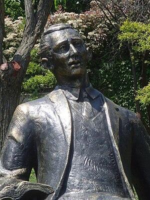 Orhan Veli Kanık - Statue of Orhan Veli in Aşiyan, İstanbul