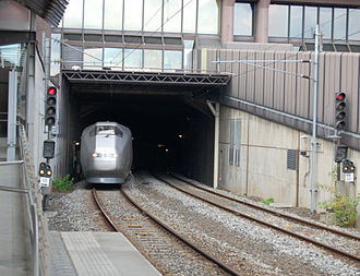 Oslo Tunnel - Class 71 train exiting the Oslo Tunnel at Oslo Central Station