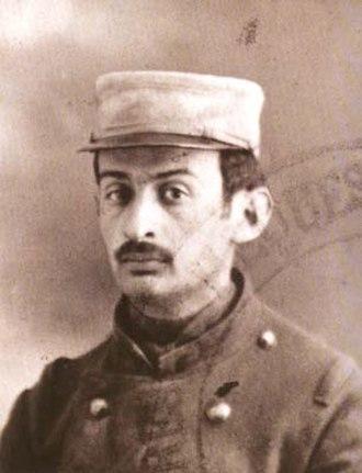 Otto Gutfreund - Otto Gutfreund in the French Foreign Legion, 1914