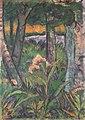 Otto Mueller - Waldstück mit Blumen und Teich - ca1925.jpeg