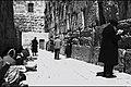 PRAYING BESIDE THE WESTERN WALL IN THE OLD CITY OF JERUSALEM. תפילות ליד הכותל המערבי בעיר העתיקה בירושלים.D269-070.jpg
