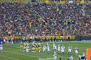 2007 Green Bay Packers season - The Packers on offense at home to the Carolina Panthers in week 11