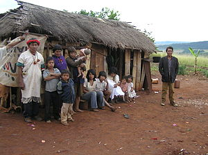 Pai Tavytera - Pai Tavytera Indians, part of the Panambi'y tribe, in Amambay Department, 2005