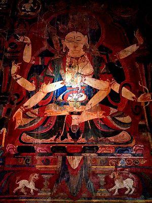 Tabo Monastery - Mural inside Tabo Monastery