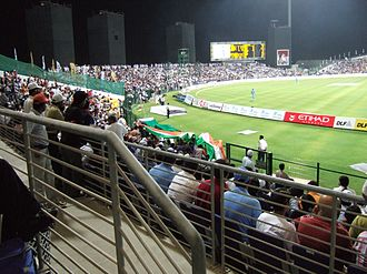 Indians in the United Arab Emirates - India vs Pakistan cricket charity match at the Sheikh Zayed Cricket Stadium in Abu Dhabi in 2007.
