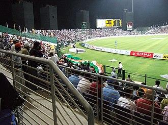 Sport in the United Arab Emirates - A match at Sheikh Zayed Cricket Stadium in Abu Dhabi.