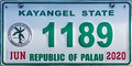 Palau license plate Kayangel 2020 b.png