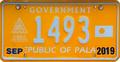 Palau license plate X Gov 2019 b.png