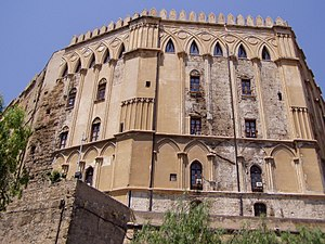 Islam in Italy - Former palace of the Emir: Palazzo dei Normanni.
