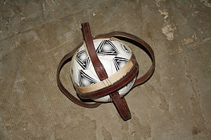 Horseball - The ball, with its typical six handles