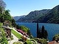 Panorama del lago di Como con le Azalee fiorite.jpg