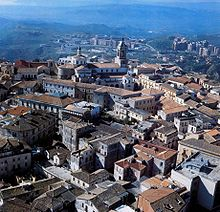 Aerial view of the historical centre.