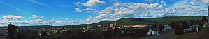 Edmundston - A panoramic outlook of Edmundston, showcasing its landscape and city features.