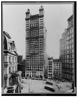 Het Park Row Building in 1912
