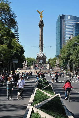 Paseo de la Reforma - The Ángel de la Independencia