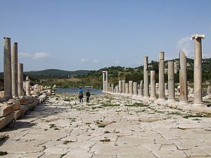 Patara, Lycia - A view of the partially restored main street of Patara