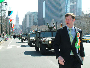 Patrick Murphy (Pennsylvania politician) - Then Congressman Murphy walking in the 2007 Philadelphia St. Patrick's Day Parade