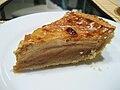 Pear custard pie slice, November 2008.jpg