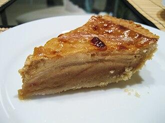 Custard pie - A slice of pear custard pie