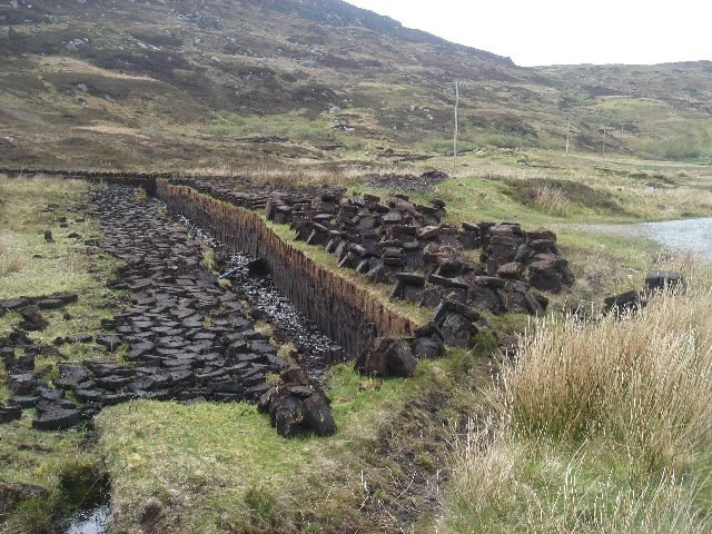 Peat cuttings near Unasary - geograph.org.uk - 176303