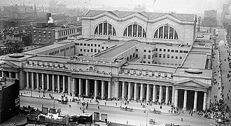 Pennsylvania Station (New York City) - Penn Station, exterior, 1911