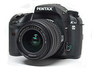 Pentax K10D digital camera model