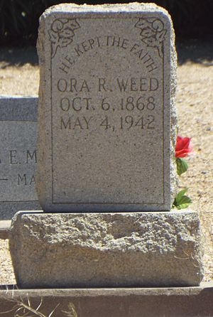 Ora Rush Weed - Grave of Ora Rush Weed.