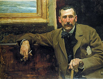 Benito Pérez Galdós - Portrait of Galdós, by Joaquín Sorolla, 1894.