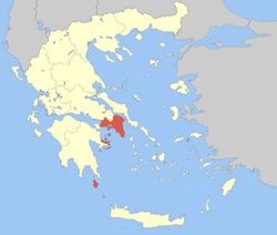 Location of Attica