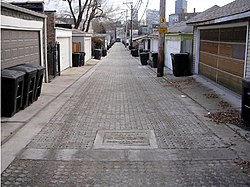 Permeable pavers alley Chicago