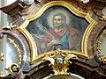 Pfarrkirche Gottsdorf - Altar Leopold 5a Aufsatz Veit.jpg