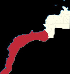 Legislative districts of Zamboanga del Norte - Map of the 3rd District of Zamboanga del Norte