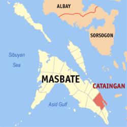 Masbate Philippines Map.Cataingan Masbate Wikipedia